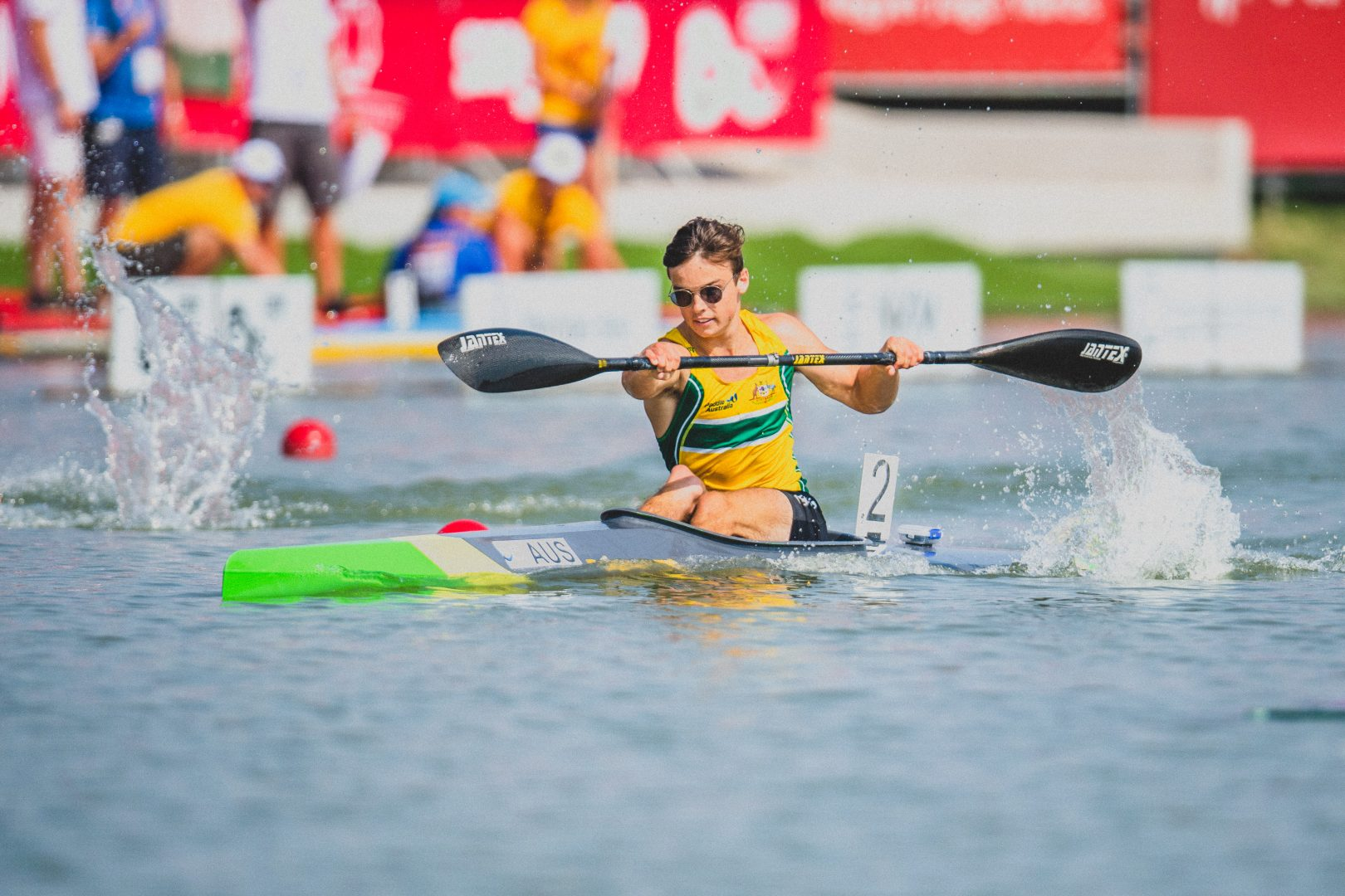 Dylan Littlehales, Australia Mens Paracanoe MKL3  International Canoe Federation World Championships, Szeged, Hungary. Saturday 24 August 2019  © Copyright photo Steve McArthur / Paddle Australia