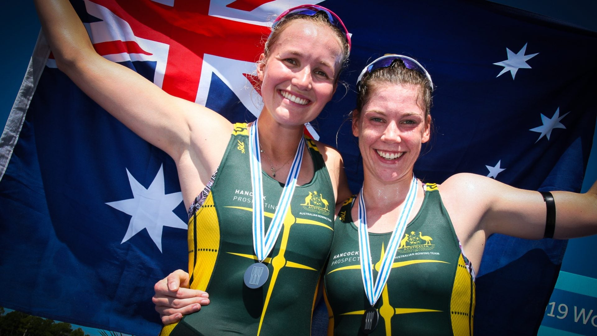 Harriet Hudson and Giorgia Patten - Copyright Rowing Australia