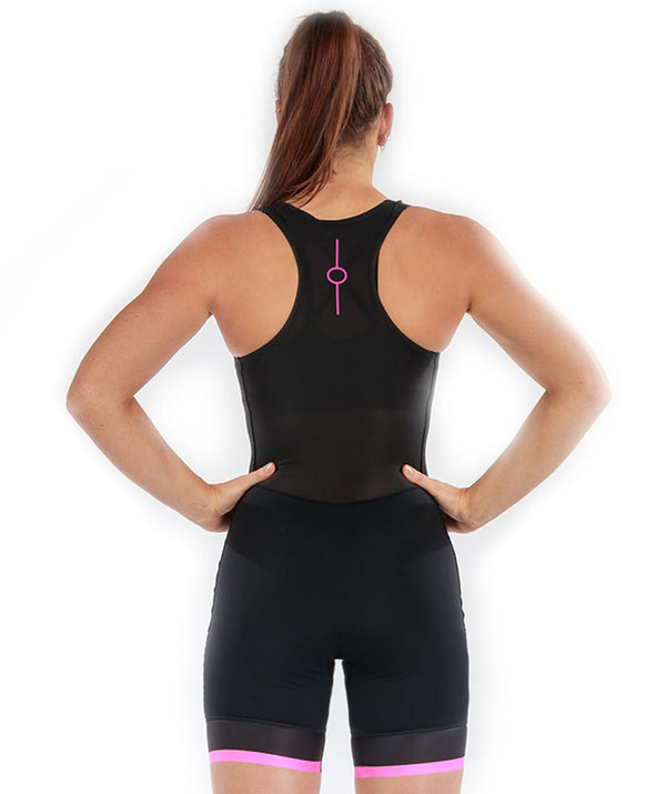 Women's Fortius Performance Rowing Suit - Black/Pink - 776BC