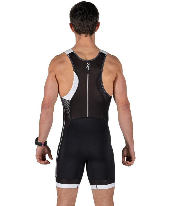 Men's Velocity Pro Rowing Suit - Black/White