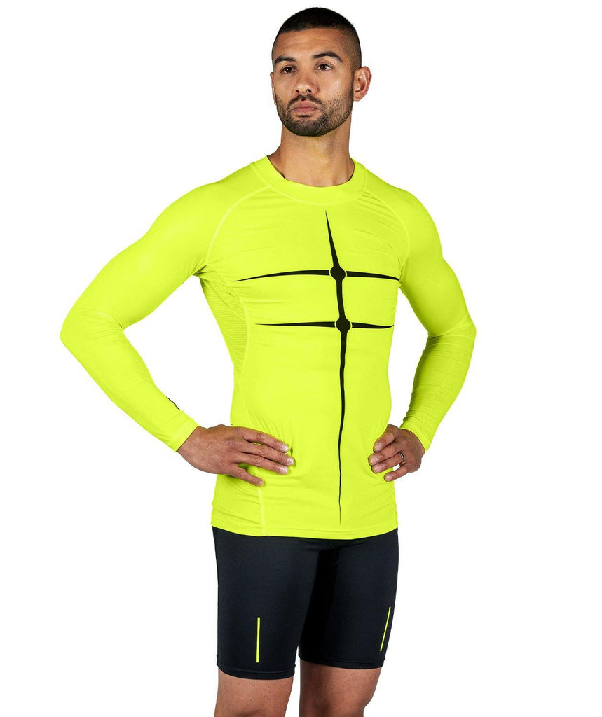 Men's Motion 2.0 LS Base Layer - Neon Yellow/Black