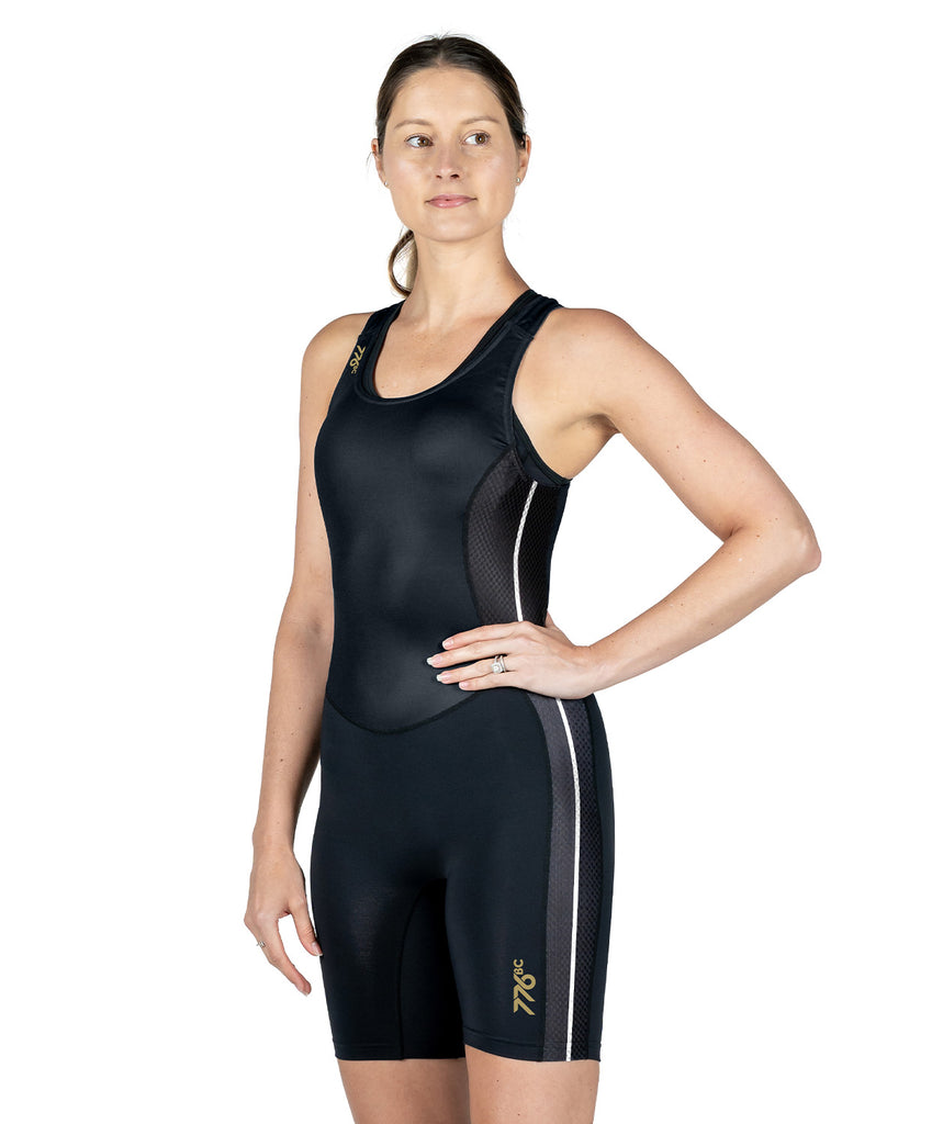 Women's Wreath Training Suit - Black