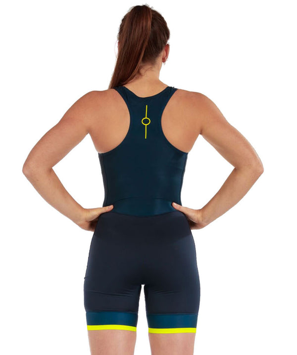 Women's Fortius Performance Rowing Suit - Navy/Yellow - 776BC