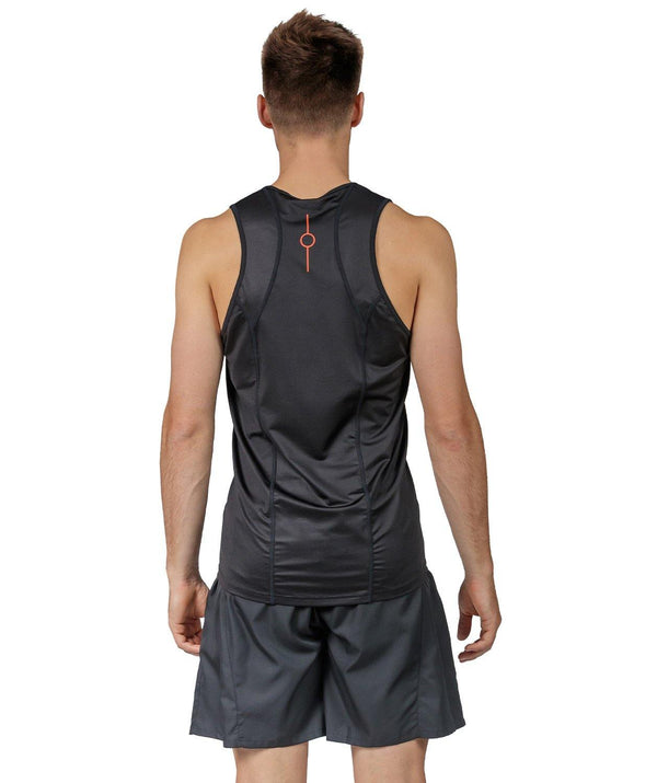 Men's Motion 2.0 Performance Tank - Black/Orange