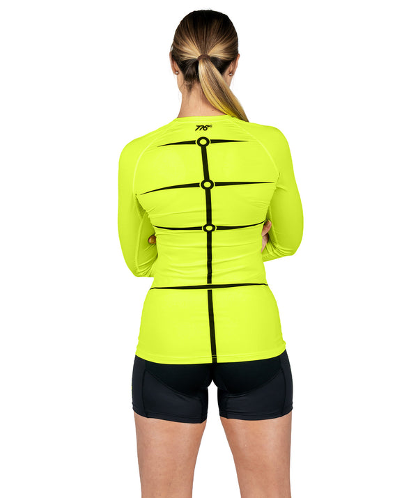 Women's Motion 2.0 LS Base Layer - Neon Yellow/Black