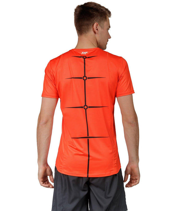 Men's Motion 2.0 Performance T-Shirt - Orange/Black