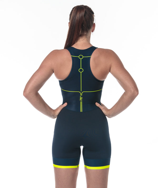 Women's Motion 2.0 Performance Rowing Suit - Navy/Yellow
