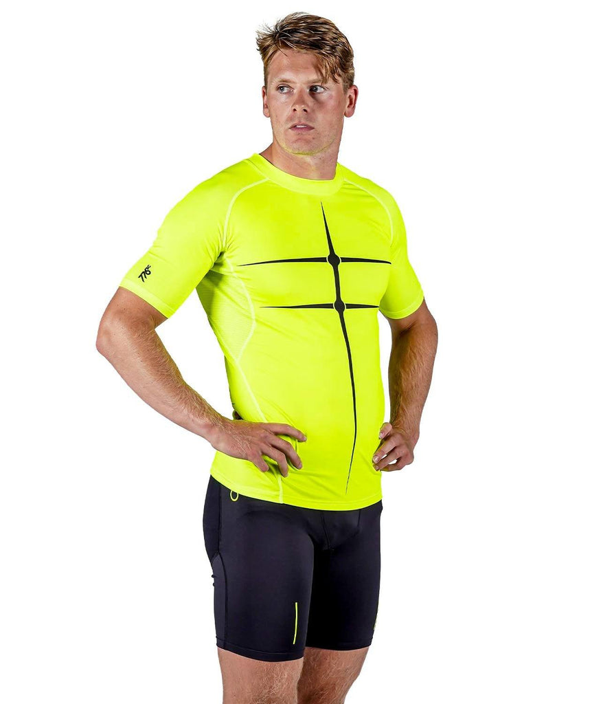 Men's Motion 2.0 SS Base Layer - Neon Yellow/Black - 776BC  - Black, Kayaking, Men's, MOTION, paddle, RETAIL, run, Short Sleeves, Tanks & Short Sleeves, training, Yellow
