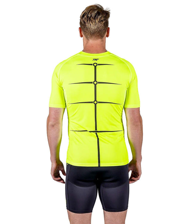 Men's Motion 2.0 SS Base Layer - Neon Yellow/Black