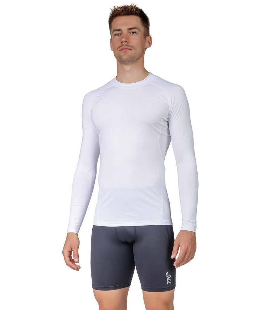 Men's Fortius LS Base Layer - White