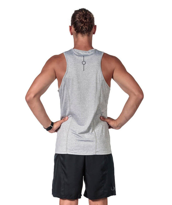 Men's Fortius Training Tank - Grey - 776BC  - Grey, Men's, RETAIL, run, Tanks, Tanks & Short Sleeves, training