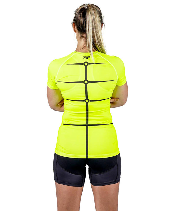 Women's Motion 2.0 SS Base Layer - Neon Yellow/Black