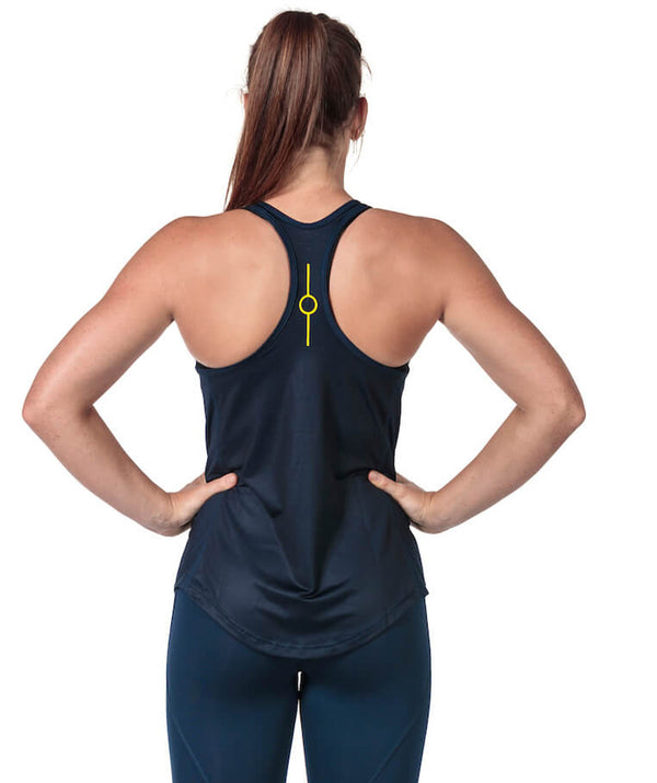 Women's Fortius Gym Tank - Navy - 776BC