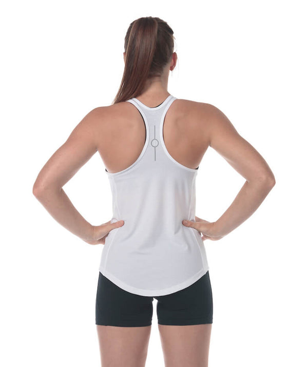 Women's Fortius Gym Tank - White