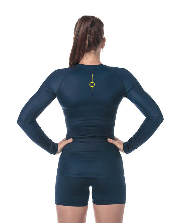 Women's Fortius LS Base Layer - Navy - 776BC