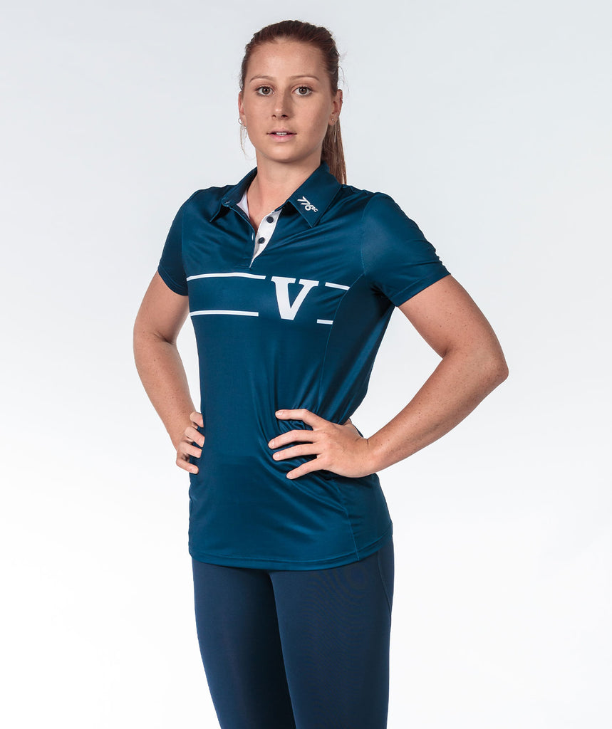 Women's Rowing Victoria Performance Polo - Navy