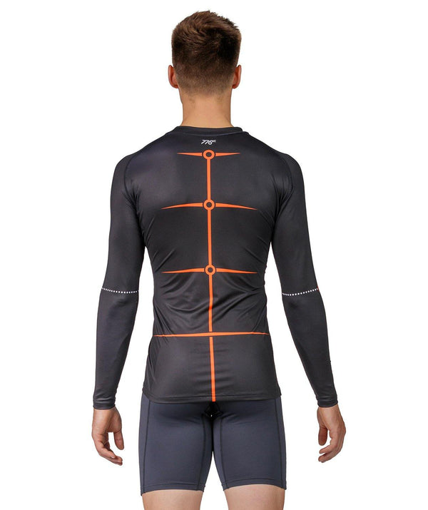 Men's Motion 2.0 LS Base Layer - Black/Orange