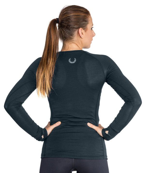 Women's Performance Merino Base Layer - Charcoal