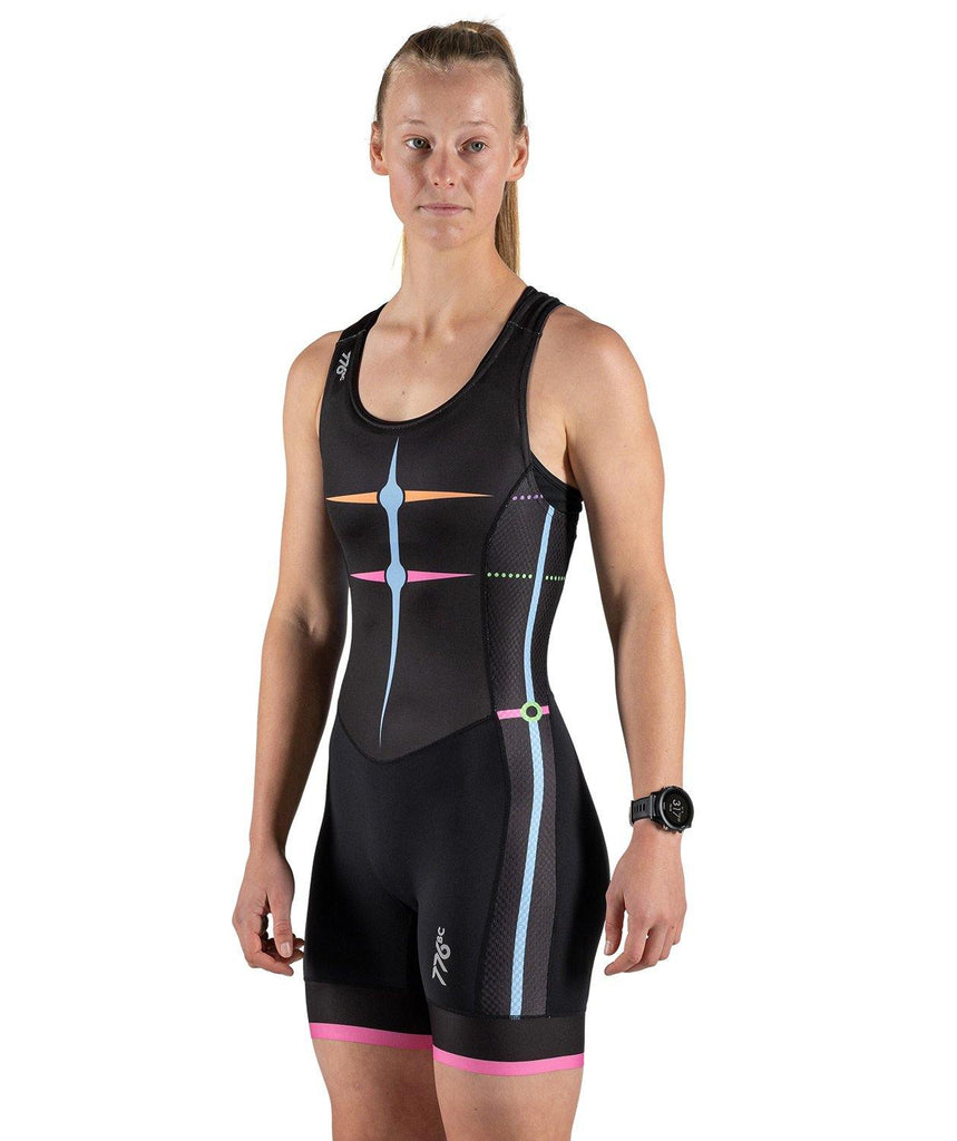 Women's After Party Rowing Suit - Black/Multi