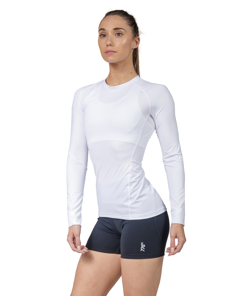 Women's Fortius LS Base Layer - White
