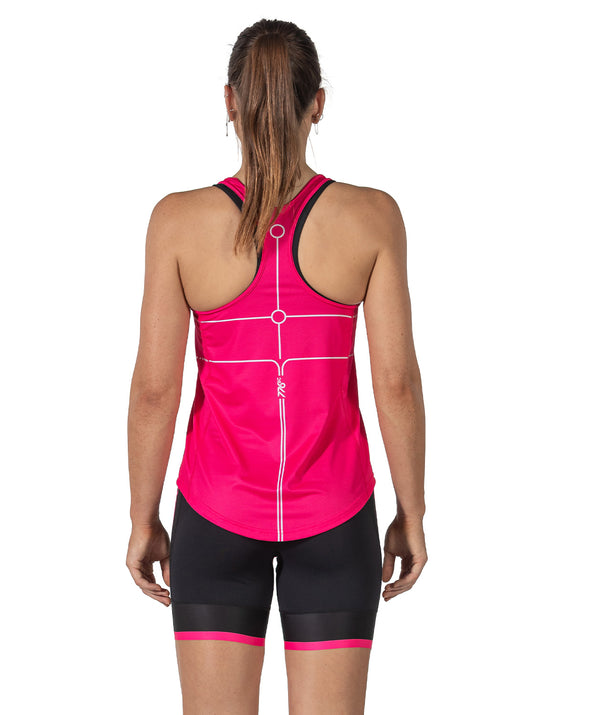 Women's Motion 2.0 Gym Tank - Pink/White