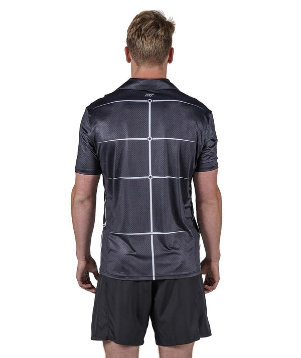 Men's Motion Golf Polo - Graphite - 776BC  - golf, Grey, Men's, MOTION, RETAIL, Short Sleeves, Tanks & Short Sleeves, White