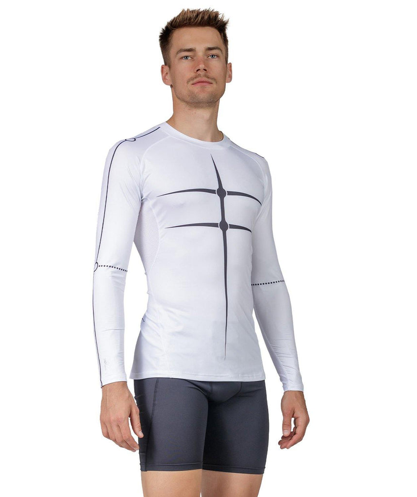 Men's Motion 2.0 LS Base Layer - White/Black