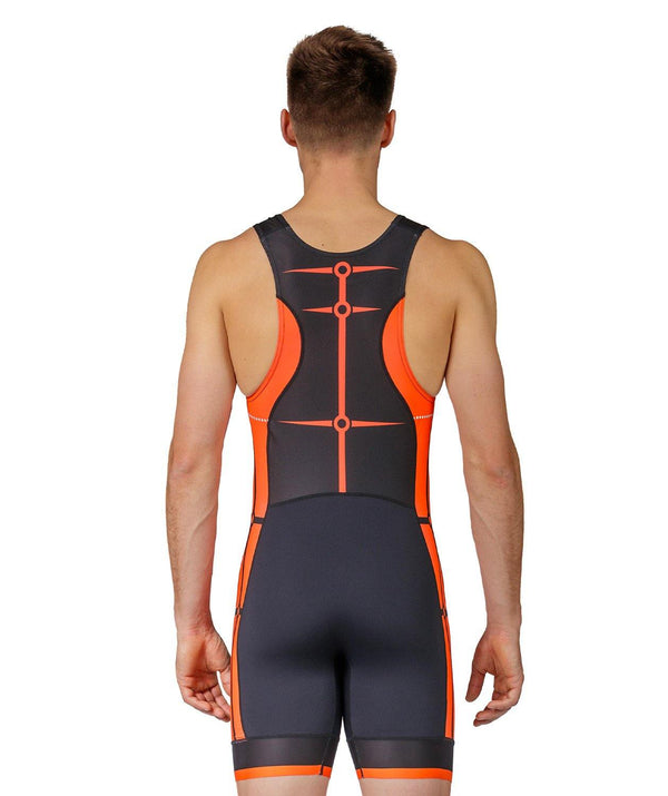 Men's MOTION 2.0 Performance Rowing Suit - Black/Orange
