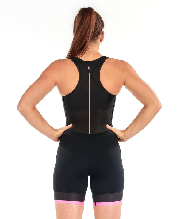 Women's Align Motion Pro Rowing Suit - Black/Pastel Pink - 776BC  - Black, MOTION, MOTION PRO, Pink, RETAIL, row, Rowing Suits, Unisuit, Women's