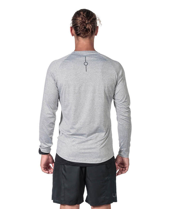 Men's Fortius LS T-Shirt - Grey - 776BC  - Grey, Long Sleeves, Men's, RETAIL, run, training
