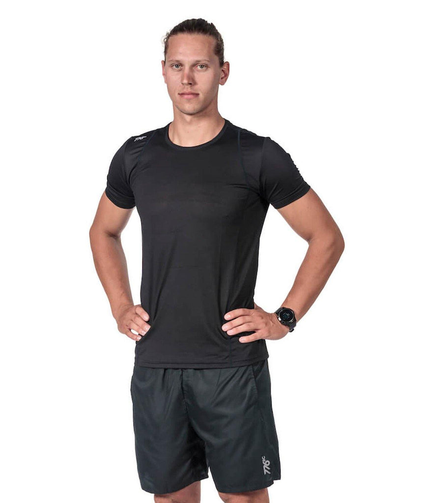 Men's Fortius Performance T-Shirt - Black - 776BC  - Black, Men's, RETAIL, run, Short Sleeves, Tanks & Short Sleeves, training