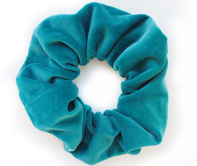 scrunchie green velvet - myz the label
