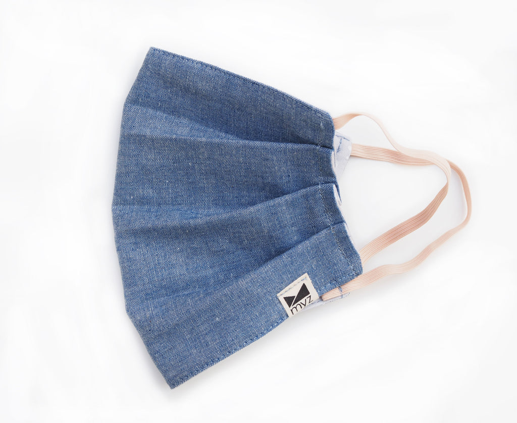 chambray reusable triple layer face mask