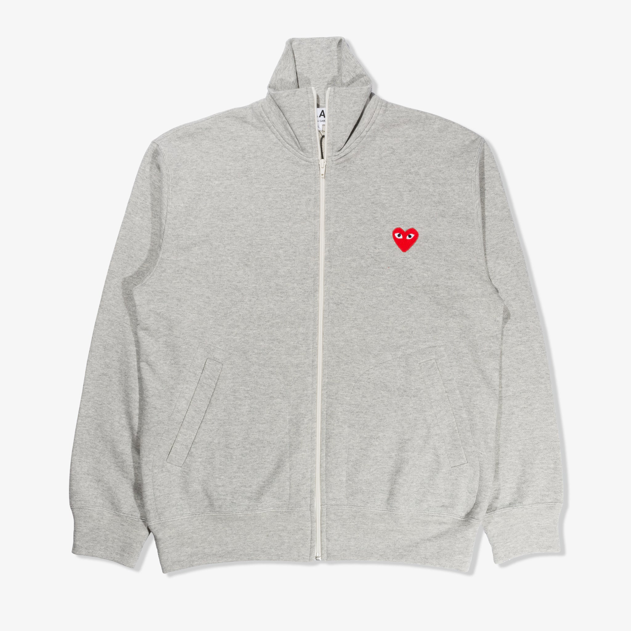 Mockneck Logo Zip Up (Grey)