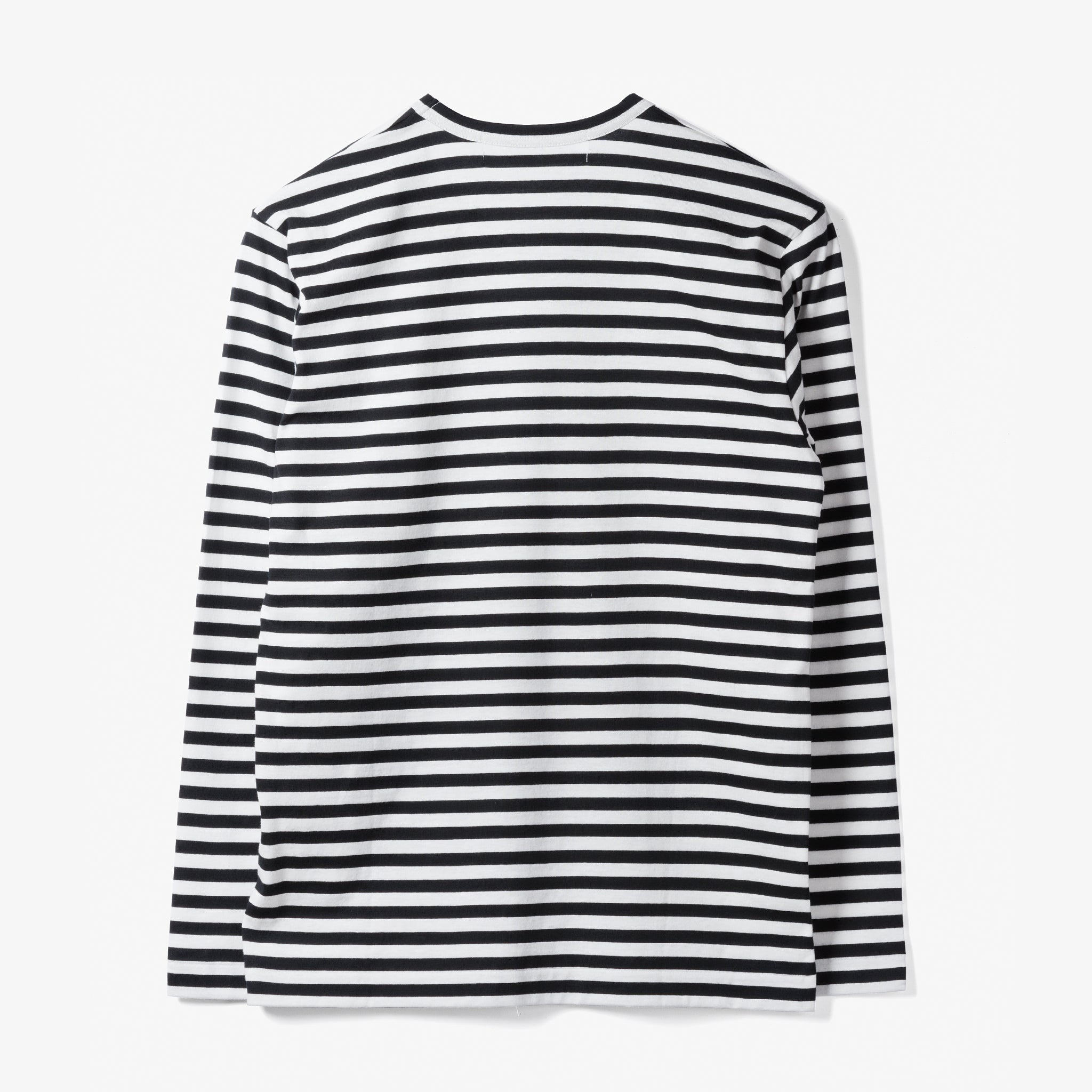 STRIPED L/S T-SHIRT (BLACK/WHITE)
