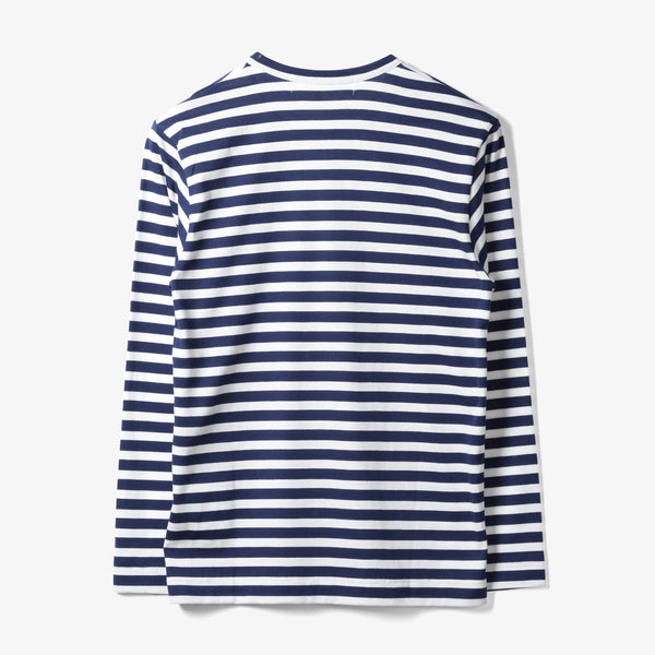 STRIPED L/S T-SHIRT (NAVY/WHITE)