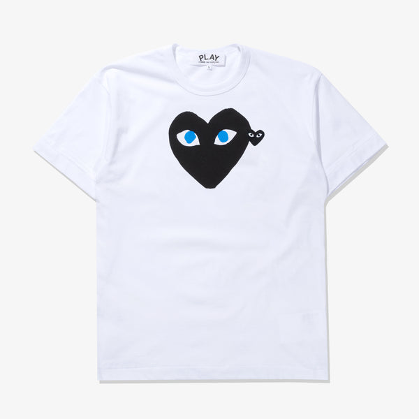 T-SHIRT WHITE BLACK BLUE EYES