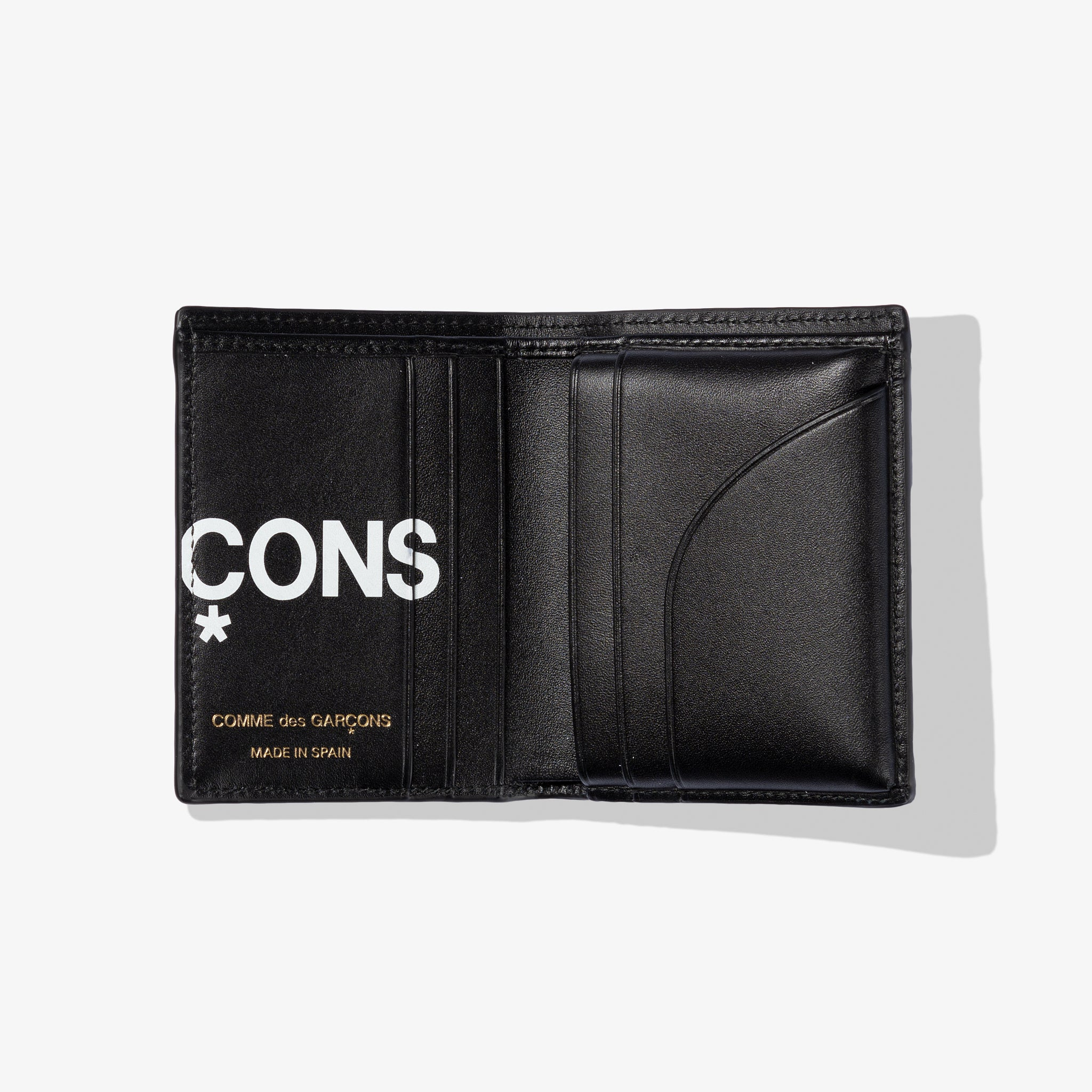 HUGE LOGO FOLD WALLET (BLACK)