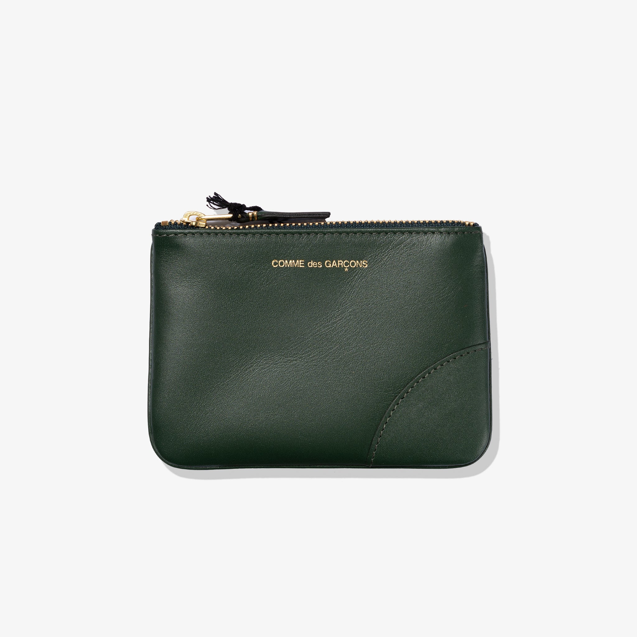 CLASSIC LEATHER POUCH (BOTTLE GREEN)