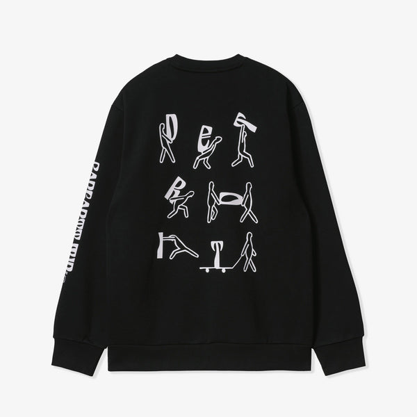 USS Script Sweat (Black/White)