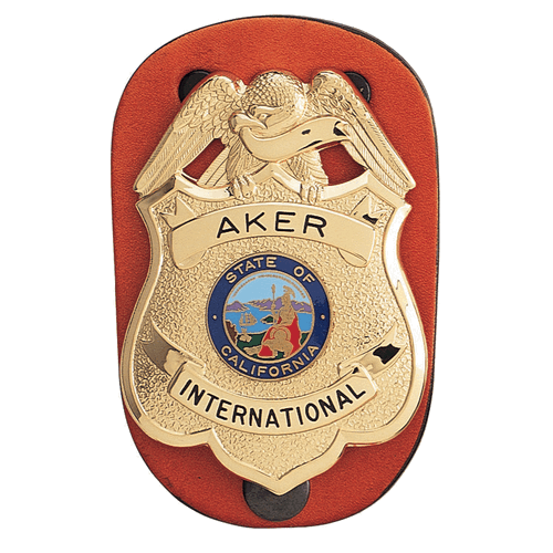 Clip-on Federal Badge Holder-Tactical & Duty Gear-Aker Leather-Gama Optics: Shooting, Hunting & Survival Gear