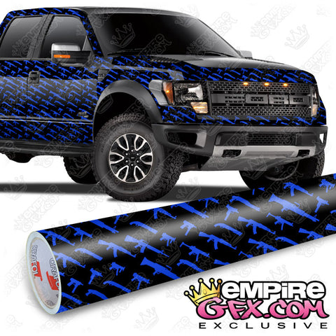 Gun Show Black & Blue Wrap Vinyl