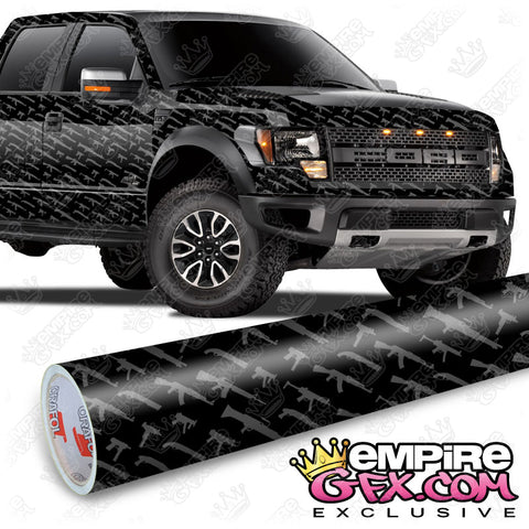 Gun Show Black & Gray Wrap Vinyl