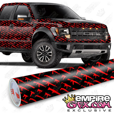 Gun Show Black & Red Wrap Vinyl