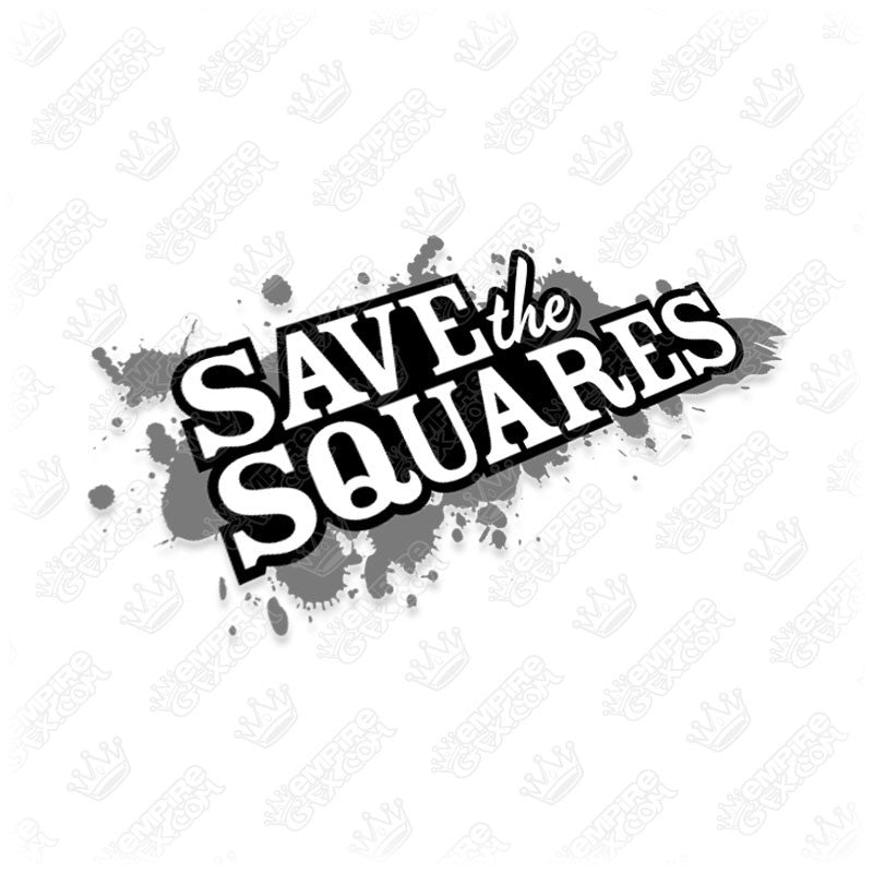 Save The Squares Grunge Logo