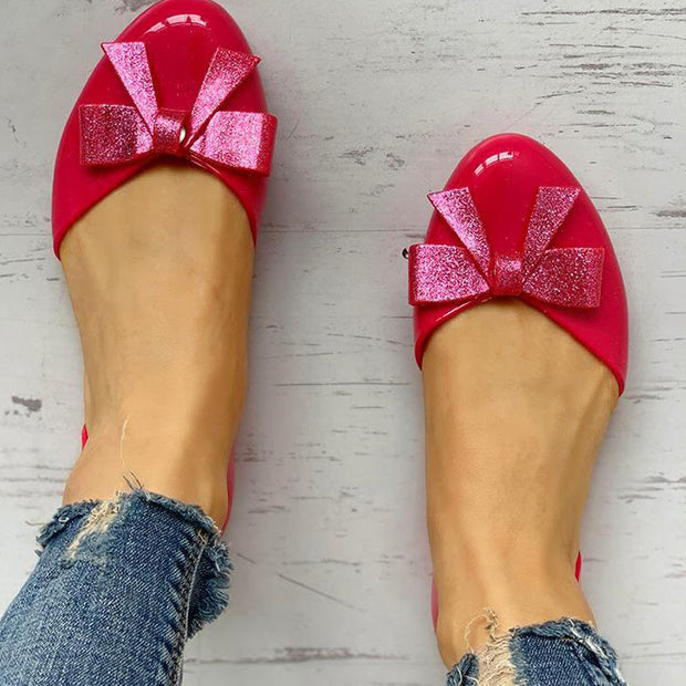 Bowknot Embellished Casual Flat Shoes - Shop Shiningbabe - Womens Fashion Online Shopping Offering Huge Discounts on Shoes - Heels, Sandals, Boots, Slippers; Clothing - Tops, Dresses, Jumpsuits, and More.