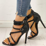 PU Bandage Design Thin Heeled Sandals - Shop Shiningbabe - Womens Fashion Online Shopping Offering Huge Discounts on Shoes - Heels, Sandals, Boots, Slippers; Clothing - Tops, Dresses, Jumpsuits, and More.
