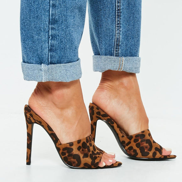 Fashion Leopard High Heel Sandals - Shop Shiningbabe - Womens Fashion Online Shopping Offering Huge Discounts on Shoes - Heels, Sandals, Boots, Slippers; Clothing - Tops, Dresses, Jumpsuits, and More.