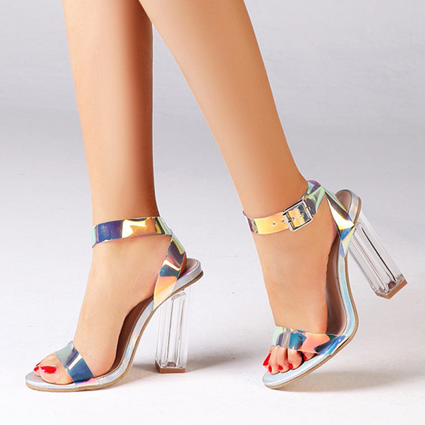 Colorful Open Toe High Heels - Shop Shiningbabe - Womens Fashion Online Shopping Offering Huge Discounts on Shoes - Heels, Sandals, Boots, Slippers; Clothing - Tops, Dresses, Jumpsuits, and More.