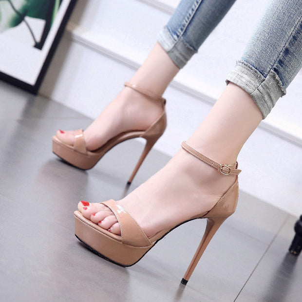 Peep Toe Ankle Strap Thin Heeled Sandals - Shop Shiningbabe - Womens Fashion Online Shopping Offering Huge Discounts on Shoes - Heels, Sandals, Boots, Slippers; Clothing - Tops, Dresses, Jumpsuits, and More.